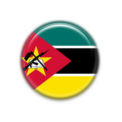 Chapa Mozambique  : Bandera Nacional, Pinback Button Badge 1.50 Inch (38mm)