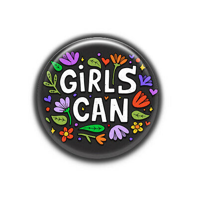 Chapa Girl Can  : Igualdad Social, Pinback Button Badge 1.50 Inch (38mm)