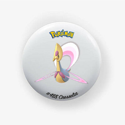 Chapa Cresselia #488 : Pokemon Go , Pinback Button Badge 1.50 Inch (38mm)