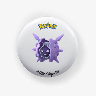 Chapa Cloyster #091 : Pokemon Go , Pinback Button Badge 1.50 Inch (38mm)