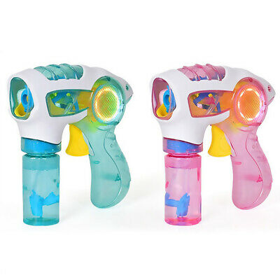 Child Flashing LED Light Up Bubble Machine Blowing Maker Blower Kids Funny Toy