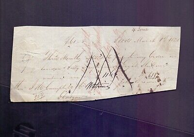 Note of promise March 1st 1828 with lovely Barclay & Co Hand Stamp    (RB1)