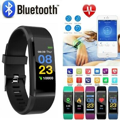 Smart Fit Watch Activity Step Tracker Calorie Counter Bracelet Wristband Uk