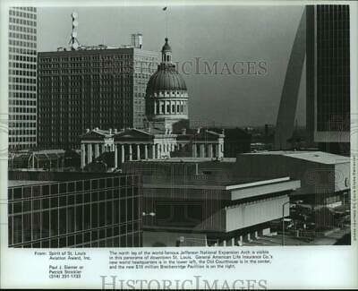 1977 Press Photo Architectural buildings in downtown, St. Louis, Missouri