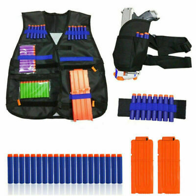 Tactical Vest Suit Kit+Bullets+Gun Holder For Nerf Guns N-Strike Elite Series