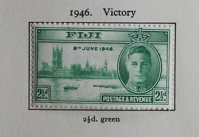 Falkland Islands Dependencies 1946 Victory Set of 2 SG G17-G18 Mounted Mint