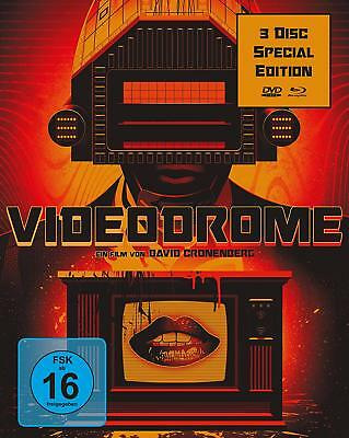 VIDEODROME - UNCUT David Cronenberg 3 DISC SPECIAL EDITION BLU-RAY +2 DVD Box