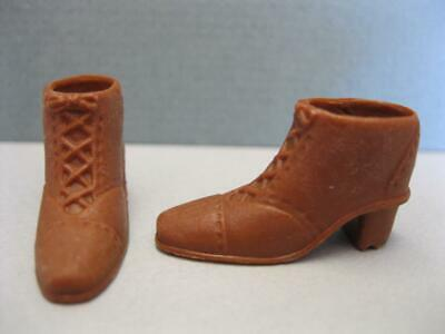 Barbie DOLL Fashion Fever Classic ANKLE Short High Heel Boots Shoe-Medium BROWN