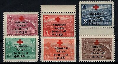 P108706/ Albania / Y&T # 341 / 346 Neufs ** / Mnh 180 € Complete