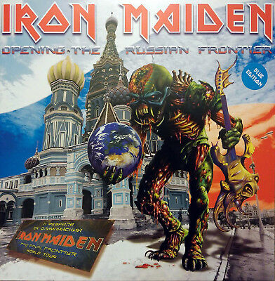 Iron Maiden - Opening The Russian Frontier - Live Lp 2011 Blue Vinyl