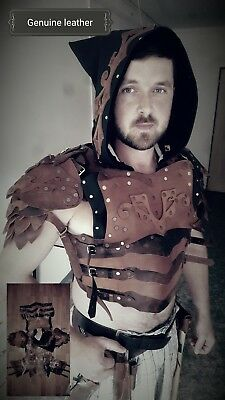 Medieval Armour Real Leather Costume LARP Assassin Creed