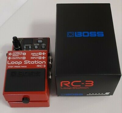 New Boss RC-3 Loop Station Guitar Effects Pedal with 12 FREE Boss Abalone Picks