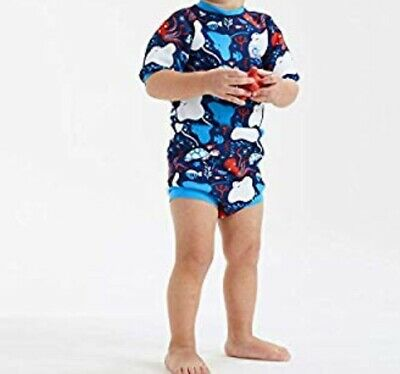 Splash About Happy Nappy Wetsuit Under The Sea Size Large #b36