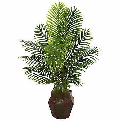 Paradise Palm Artificial Tree In Decorative Planter Nearly Natural 4.5'Realistic