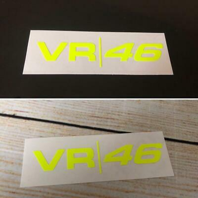 VALENTINO ROSSI VR46 Moto GP Fluorescent/Neon Yellow Vinyl Decal Stickers x 2