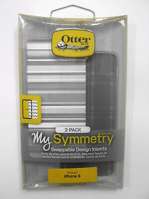 OtterBox Symmetry Series Grey Plaid/Grey Stipe Swappable Inserts For iPhone 6/6s
