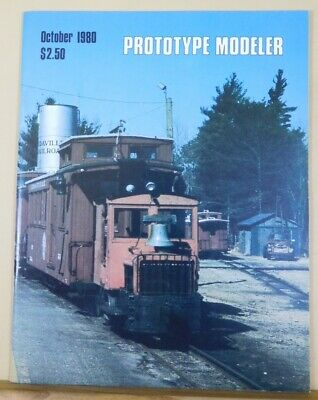 Prototype Modeler 1980 October ACL Steel boxcar Edaville gas locomotive NH wood