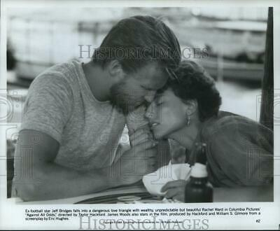 1984 Press Photo Rachel Ward and Jeff Bridges in a scene from Against All Odds.