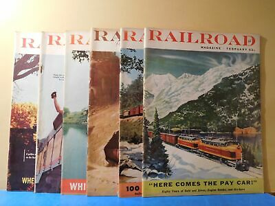 Railroad Magazine Complete Year 1956 6 issues