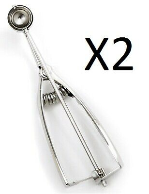 Norpro ½ Tbsp. Stainless Steel Spring Action Scoop, 7 ½ Inches (Pack of 2)