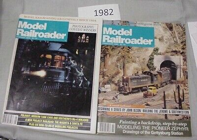 Model Railroader Magazine Complete Year 1982 12 issues