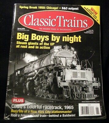 Classic Trains 2009 Spring Big Boys at night B&O outpost 1950 Chicago
