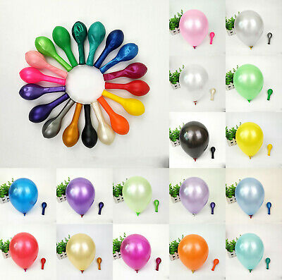 100Pcs Colorful Pearl Latex 10 inch Celebration Party Wedding Birthday Balloon