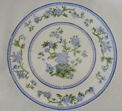 ROYAL WORCESTER  Lunch Plate MING ROSE Blue