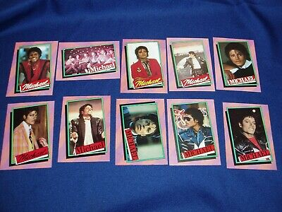 10  Michael Jackson Topps Series 1 Trading Cards Mint 1984 (2nd)