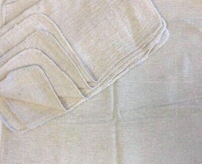 """1000 Pieces Industrial Shop Rags / Cleaning Towels Natural 18""""X18"""""""