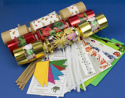 SALE - 8 Assorted Christmas Design Make & Fill Your Own Cracker Craft Kit