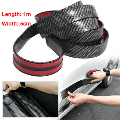 1M Carbon Fiber Moulding Trim Strip Car Door Edge Scratch Guard Protector Cover