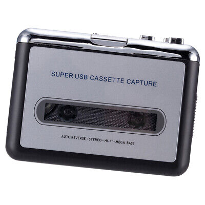 Tape to PC Super USB Cassette-to-MP3 Capture Stereo Audio Player Converter