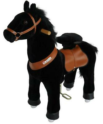 PonyCycle Kids Manual Ride on Horse Small 3-5 Years Black Mane NEW