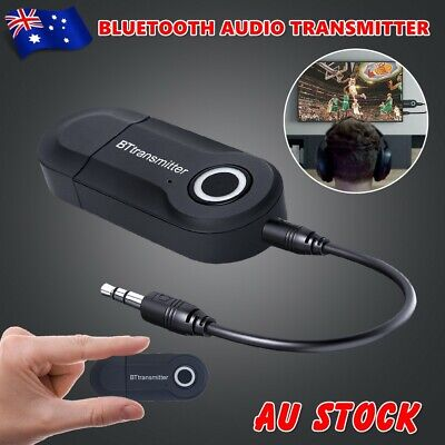 Bluetooth 4.2 Transmitter Audio Wireless Adapter 3.5mm Jack A2DP For TV Stereo