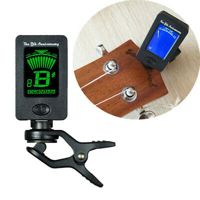 360 Digital Chromatic LCD Clip-On Electric Tuner for Guitar Bass Ukulele Violin