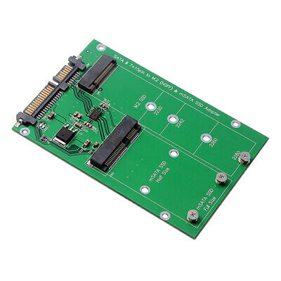 "M.2 B- KEY NGFF & mSATA SSD to SATA3.0 2.5"" Adapter Converter Card Board"