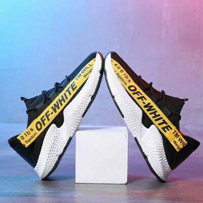 Off White Mens Running Trainers Casual Lace Gym Walking Boys Sports Shoes Ladies