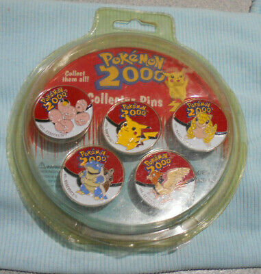 #D325.  Pack Of Five(5) Pokemon 2000  Pins