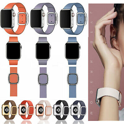 Modern Buckle Genuine Leather Band Strap For Apple Watch Series 4 3 2 1 38/44mm