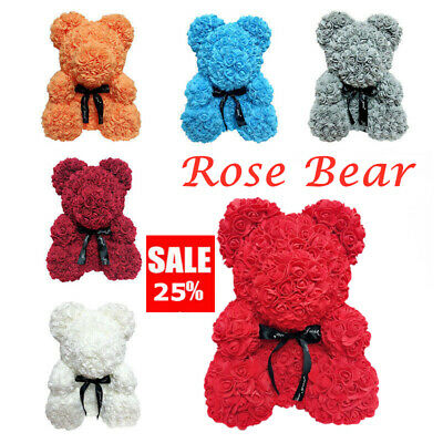 2019 Lovely Rose Bear Foam Teddy Bear for Birthday Wedding  DIY Lover Gifts UK