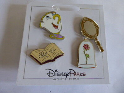 Disney Trading Pins  124610 Beauty and the Beast Icons (4 pins)