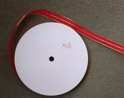 RED & GOLD RIBBON - Large 100 metre Long Roll x 24mm Wide -  Decoration Packing