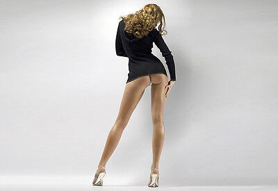 Girl With Long Legs and Nice Ass Sexy and Seductive A3 Art Poster Print
