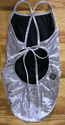 0105bddcb39 JOLYN 28 Tie BACK Jackson 2 II SWIMSUIT Swim RARE Marble PRINT Sold OUT  Gray EUC