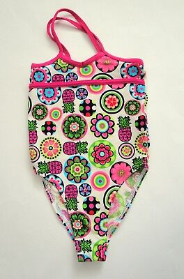 Girls Pink w Pineapples Tribord Swimming Costume Swimsuit Decathlon Age 4 Years