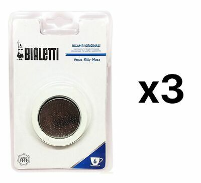 Bialetti Filter Plate Replacement Parts For 6 Cup Espresso Maker (3-Pack)