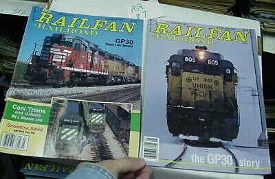 Railfan & Railroad Magazine Complete Year 1987 Complete Year  8 issues