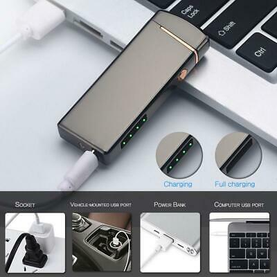 Touch Induction Electric USB Rechargeable Flameless Windproof Cigarette Lighter