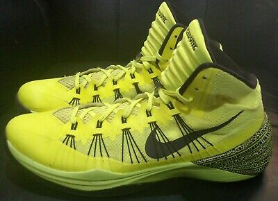 3a4aa62d1bf Nike Air Zoom Hyperdunk 2013 Basketball Sneakers  Electric Green  Men s  Size 14